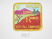 Jubilee Scout Ranch Patch, 1976 LAAC Camporee Patch