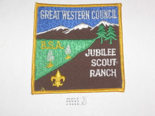 Jubilee Scout Ranch Patch, Great Western Council