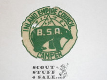 Inland Empire Council, Felt Camp Patch, used with some mothing