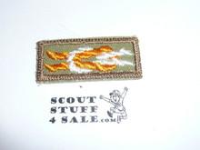 Silver Antelope Award Knot on Khaki, 1946-1983, sewn