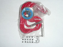National Eagle Scout Association, Bolo Tie, Red Cord, New in Bag