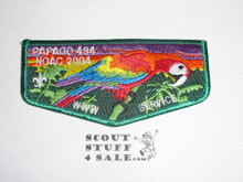 Order of the Arrow Lodge #494 Papago s33 2004 NOAC Flap Patch