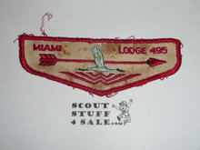 Order of the Arrow Lodge #495 Miami f1 First Flap Patch, well used