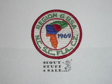 1969 National Jamboree Region 6 Contingent Patch