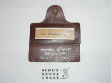 1981 National Jamboree Trading Post Staff Leather Name Badge