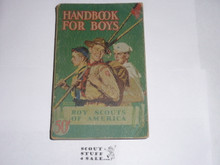 1946 Boy Scout Handbook, Fourth Edition, Thirty-ninth Printing, Norman Rockwell Cover, Good condition with some edge and spine wear