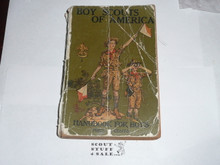 1926 Boy Scout Handbook, Second Edition, Thirty-fifth Printing, spine and cover wear, book is solid
