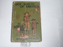 1923 Boy Scout Handbook, Second Edition, Twenty-ninth Printing, spine and cover wear