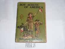 1925 Boy Scout Handbook, Second Edition, Thirty-third Printing, some spine or cover wear