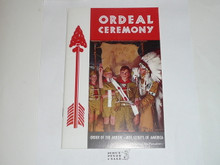 Ordeal Ceremony Manual, Order of the Arrow, 1968, 3-68 Printing, used