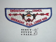 Order of the Arrow Lodge #406 Chickasah s1 Flap Patch