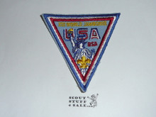 1971 Boy Scout World Jamboree USA Contingent Patch, a few small rust marks from staples