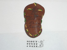 1955 Boy Scout World Jamboree Canadian Contingent Leather Neckerchief Slide
