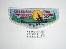 Order of the Arrow Lodge #212 So-Aka-Gha-Gwa s8 Flap Patch