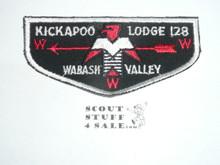 Order of the Arrow Lodge #128 Kickapoo f1 Flap Patch