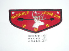 Order of the Arrow Lodge #109 Shawnee f1 Flap Patch