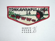 Order of the Arrow Lodge #16 Tonkawampus f1 Flap Patch