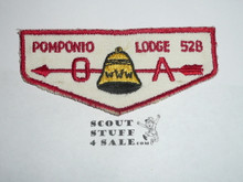 Order of the Arrow Lodge #528 Pomponio f2 Flap Patch