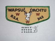 Order of the Arrow Lodge #343 Wapsu Achtu f2 Flap Patch