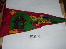 Gilwell Park Pennant, Some silk screening coming off