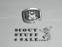 Wood Badge Owl Patrol Pewter Pin - Scout