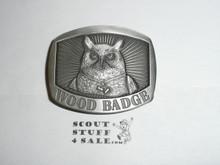 Wood Badge Owl Patrol Pewter Belt Buckle