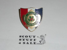 Schiff Scout Reservation, Metal Shield Neckerchief Slide
