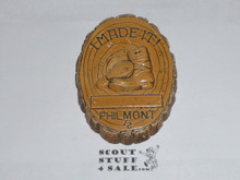 "Philmont Scout Ranch Plaster ""I Made It"" wall decoration"