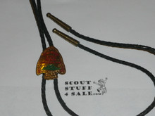 Philmont Scout Ranch, Arrowhead Bolo Tie with Lanyard Black Cord, old style
