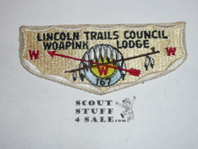 Order of the Arrow Lodge #167 Woapink s1 Flap Patch