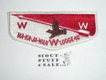 Order of the Arrow Lodge #40 Ma-Ka-Ja-Wan s1a Flap Patch
