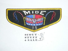 Order of the Arrow Lodge #15 Mide f1a Flap Patch