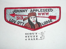 Order of the Arrow Lodge #513 Lou Ott s4 Flap Patch
