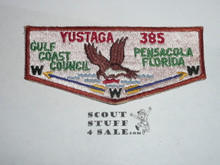 Order of the Arrow Lodge #385 Yustaga s3 Flap Patch