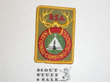 National Camp School r/e Patch, tan twill