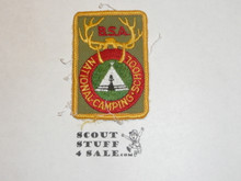 National Camp School r/e Patch, tan twill, sewn