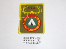 National Camping School Sticker