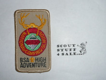 National Camp School r/e Patch, BSA High Adventure variety