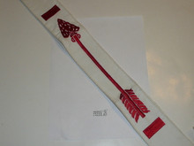 1980's Embroidered On Twill Brotherhood Order of the Arrow Sash, Loose Merrow Stitched Edge, Litely used Condition, 27""