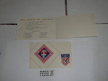 1959 World Jamboree, BSA Contingent Note Card with Scout Oath and Law