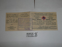 1959 World Jamboree, Official Participant Identification Card
