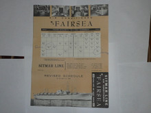 1957 World Jamboree, Ship Sailing Calendar for the Fairsea from BSA Contingent trip