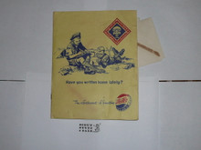 1959 World Jamboree, Folder of Stationary and Envelopes with Jamboree and Pepsi Cola Logos
