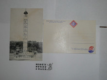1959 World Jamboree, Large Jamboree Postcard with Jamboree and Pepsi Cola Logos