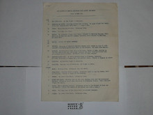 1959 World Jamboree, BSA Tour Itinerary