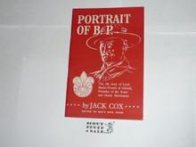 1957 World Jamboree Portrait of BP Pamphlet