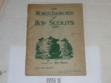 1929 World Jamboree, The World Jamboree of Scouts, reprinted from the Times, 50 pages