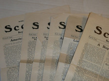 1929 World Jamboree, USA Contingent Newspaper, Scouting Magazine Special, Six of the 11 daily newspapers