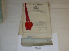 1929 World Jamboree, Special Travel Documents for New York Contingent troop Scoutmaster and Scouts from US Government with foreign government stamps, VERY RARE