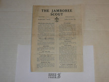 1929 World Jamboree, USA Contingent Newsletter from  On Board the ship to the Jamboree